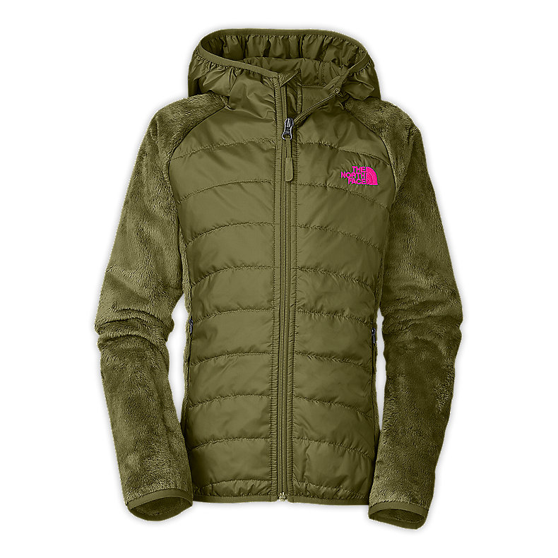 NORTH FACE GIRLS OSO ANIMAGI HOODIE GRIP GREEN