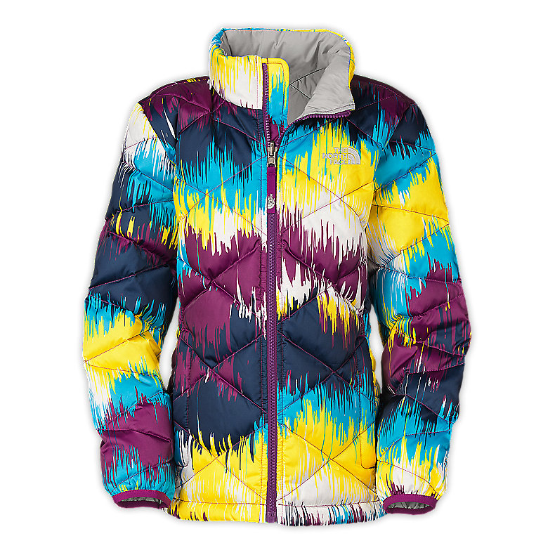 NORTH FACE GIRLS ACONCAGUA JACKET PREMIERE PURPLE PRINT