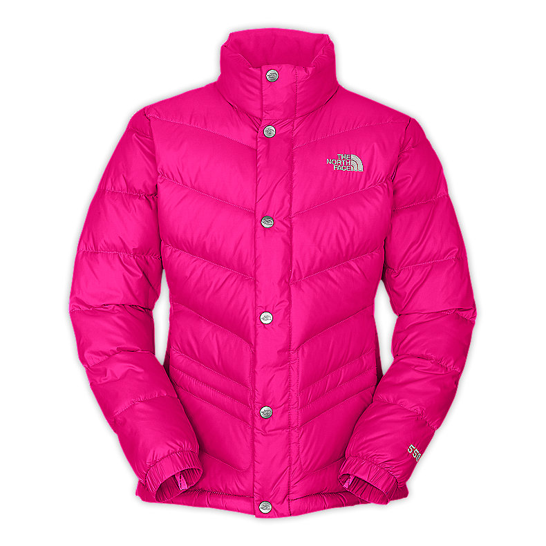NORTH FACE GIRLS CARMEL JACKET RAZZLE PINK
