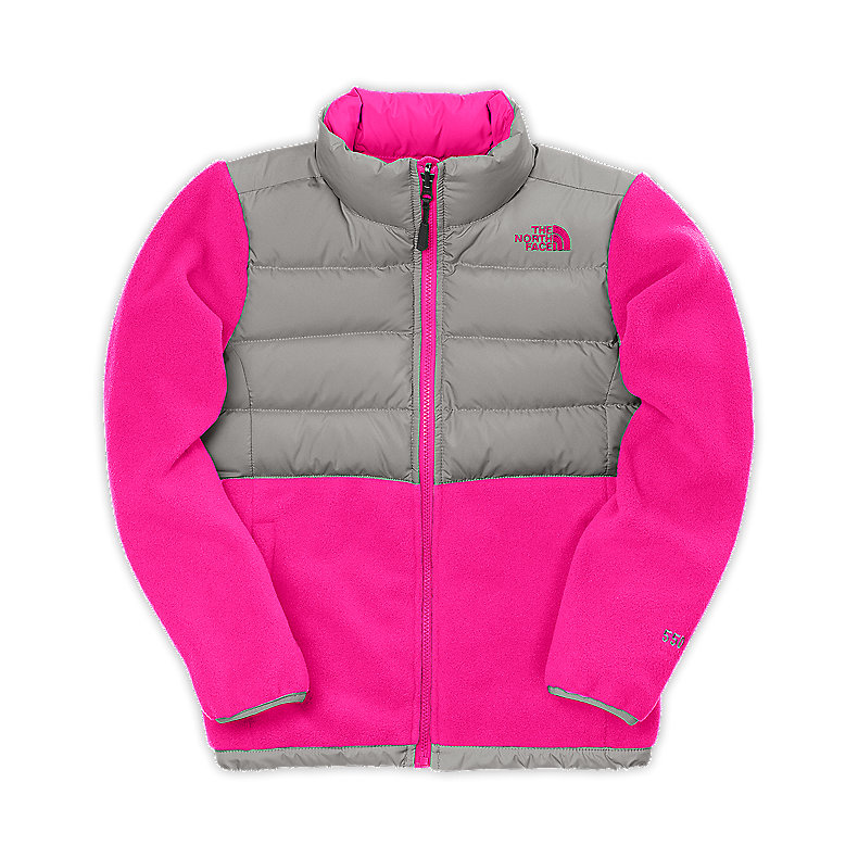 NORTH FACE GIRLS DENALI DOWN JACKET RAZZLE PINK