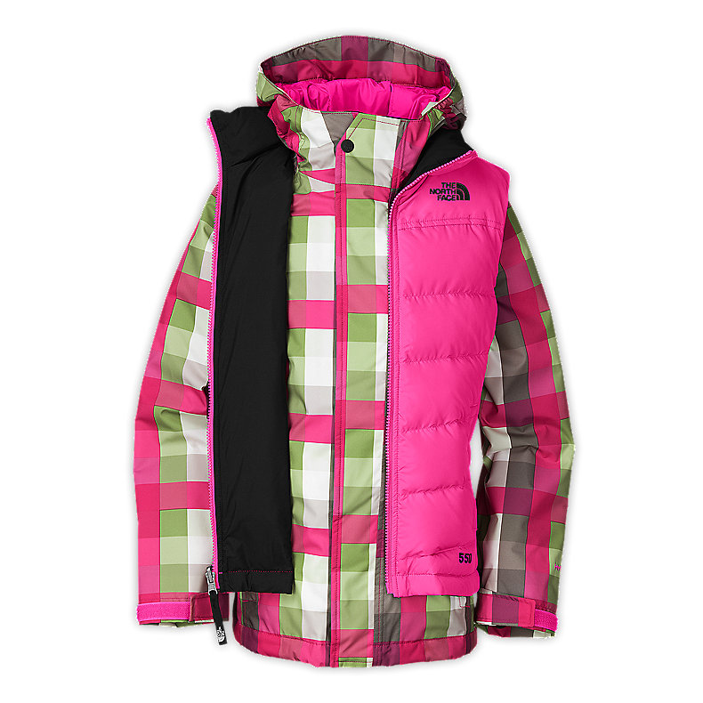 NORTH FACE GIRLS VESTAMATIC TRICLIMATE JACKET RAZZLE PINK