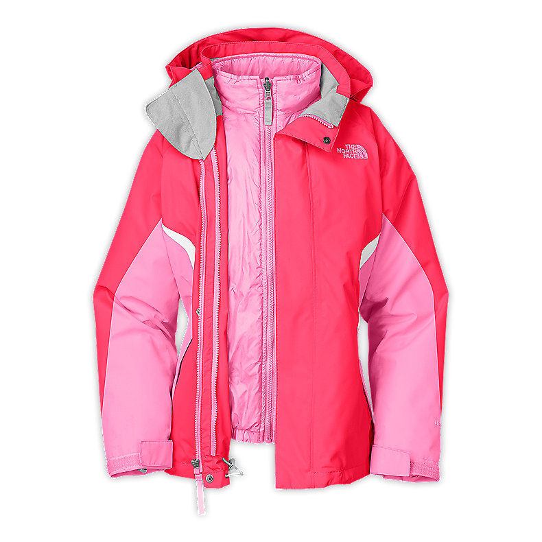 NORTH FACE GIRLS BOUNDARY TRICLIMATE JACKET TEABERRY PINK