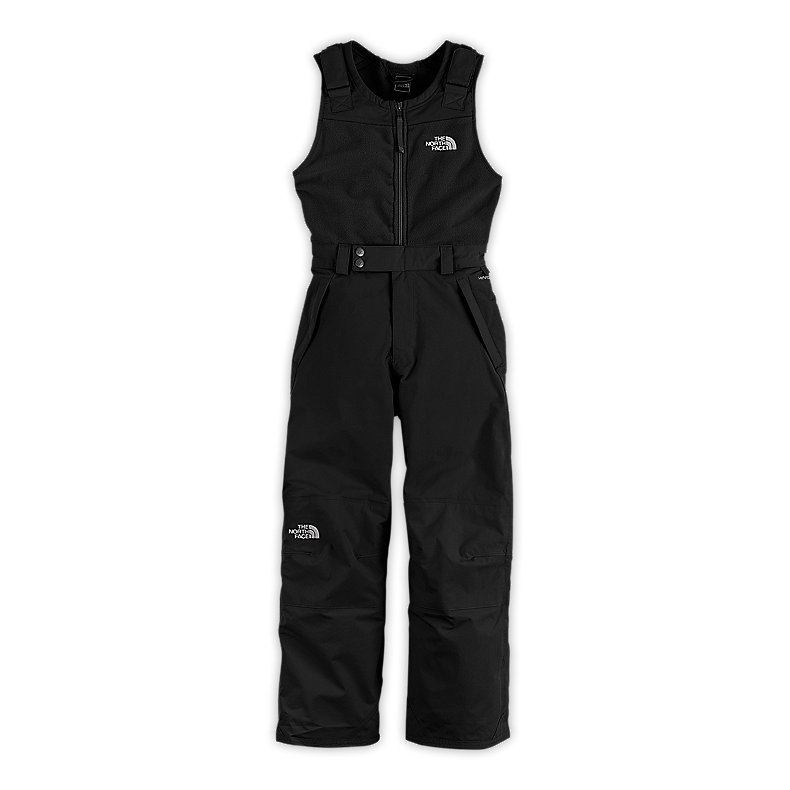 NORTH FACE GIRLS INSULATED SNOWDRIFT BIB TNF BLACK