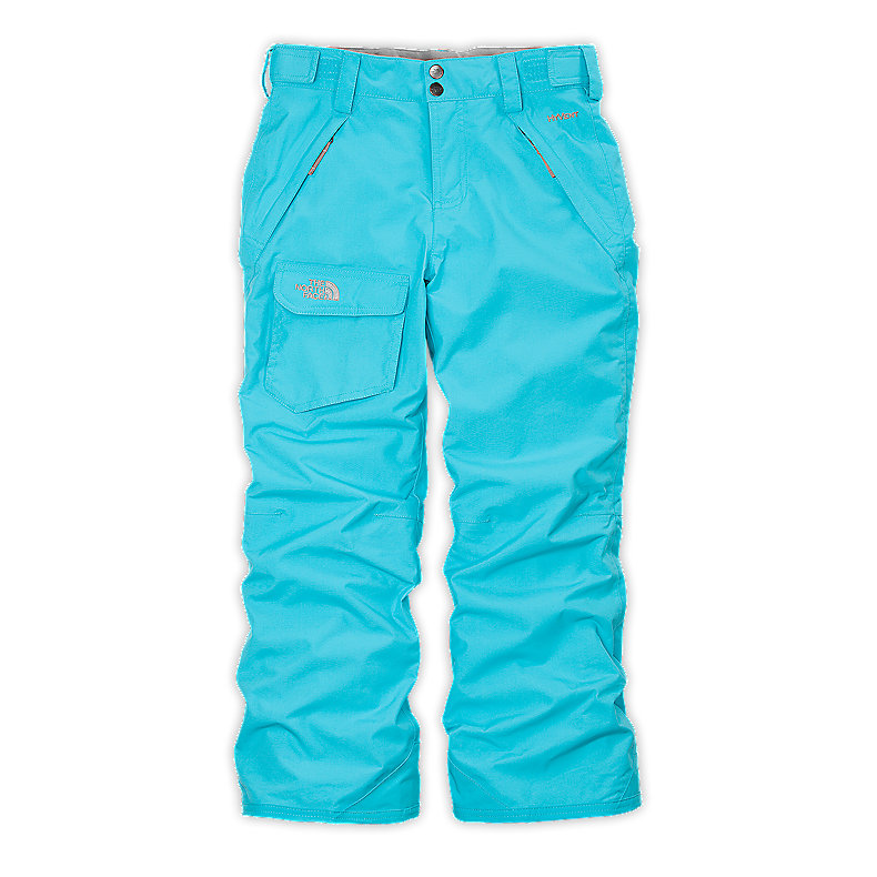 NORTH FACE GIRLS FREEDOM INSULATED PANT TURQUOISE BLUE