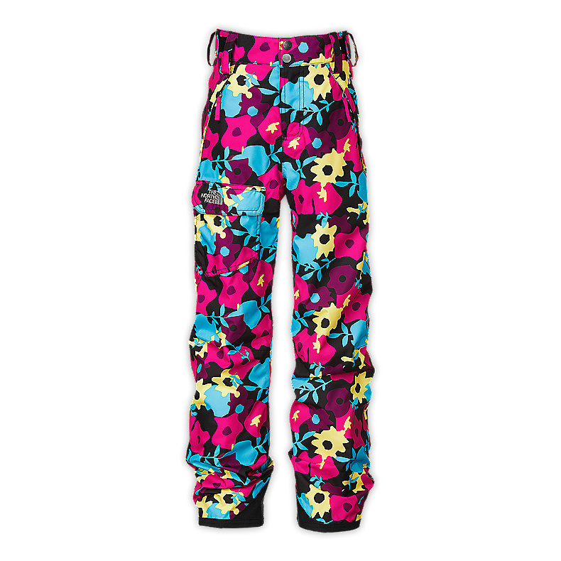 NORTH FACE GIRLS FREEDOM INSULATED PANT RAZZLE PINK FLORAL