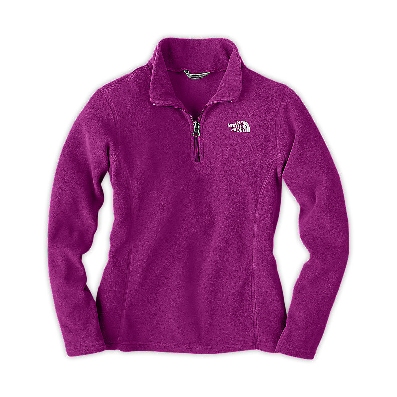 NORTH FACE GIRLS GLACIER 1/4 ZIP PREMIERE PURPLE