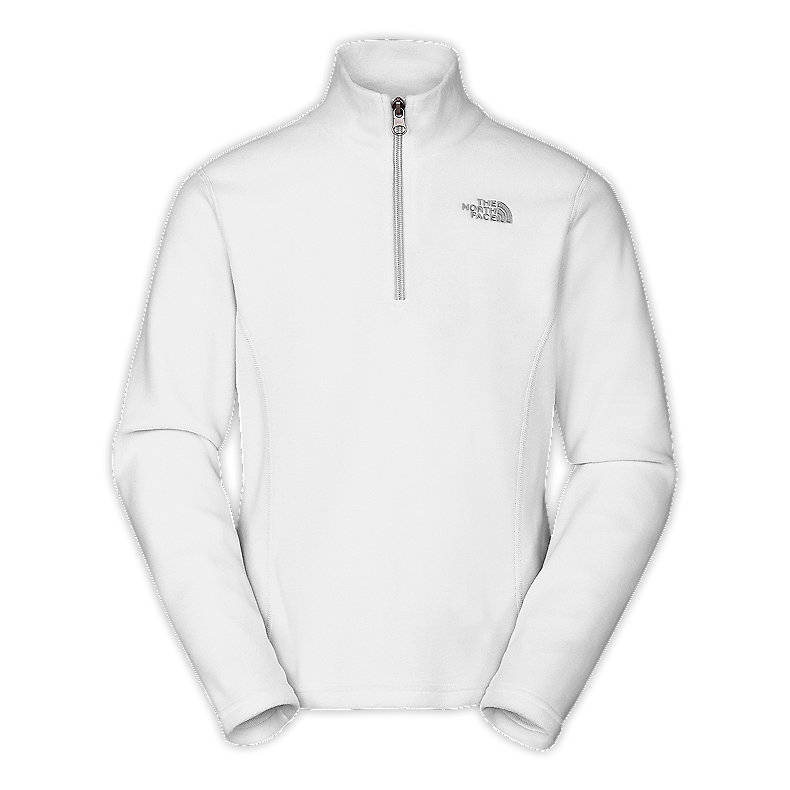 NORTH FACE GIRLS GLACIER 1/4 ZIP TNF WHITE