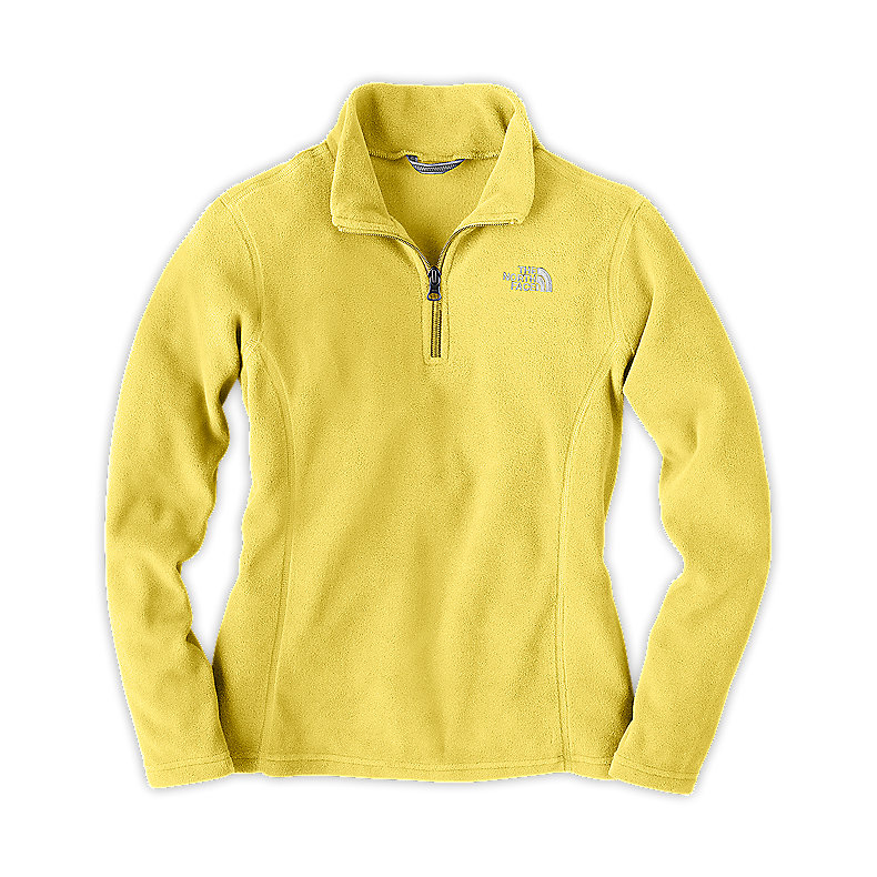 NORTH FACE GIRLS GLACIER 1/4 ZIP STINGER YELLOW