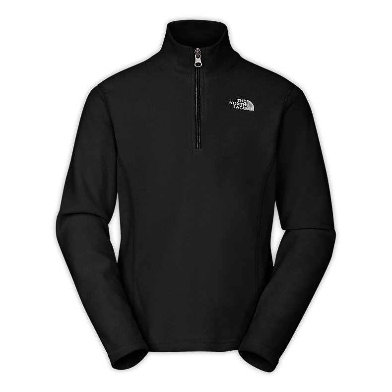 NORTH FACE GIRLS GLACIER 1/4 ZIP TNF BLACK