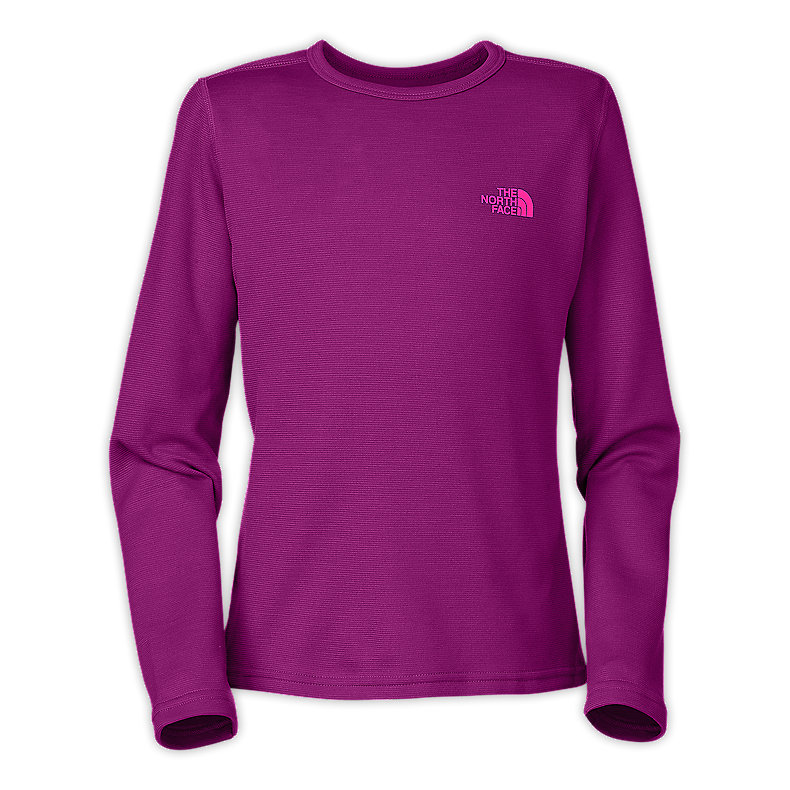 NORTH FACE GIRLS BASELAYER TEE PREMIERE PURPLE
