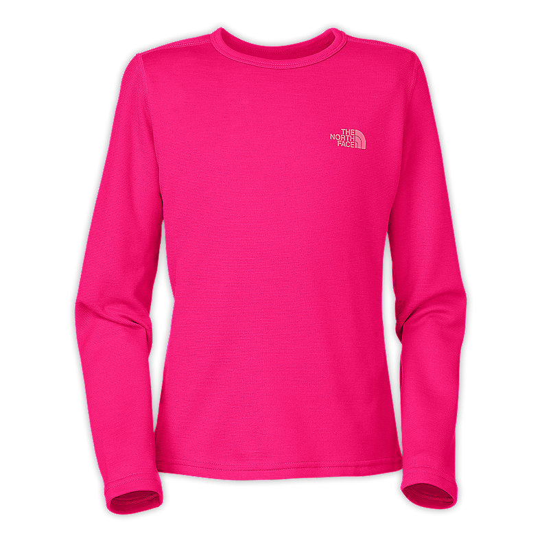 NORTH FACE GIRLS BASELAYER TEE RAZZLE PINK