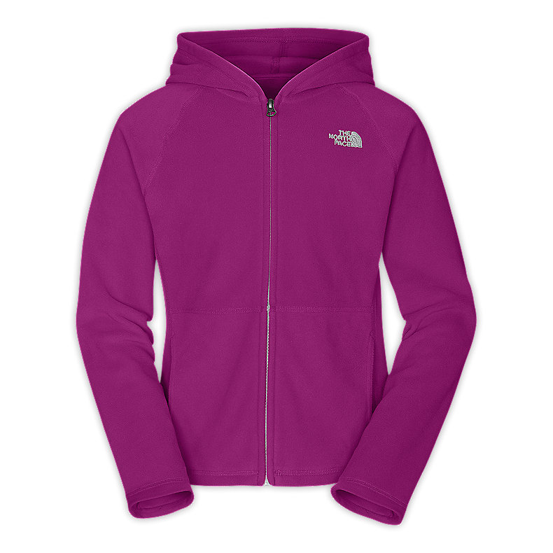NORTH FACE GIRLS GLACIER FULL ZIP HOODIE PREMIERE PURPLE
