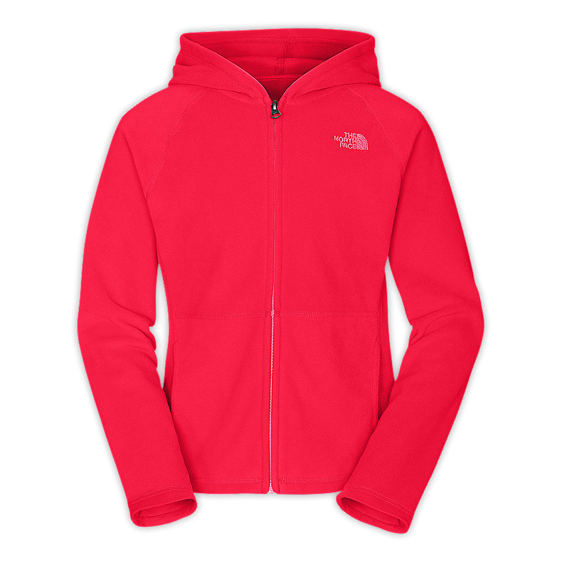 NORTH FACE GIRLS GLACIER FULL ZIP HOODIE TEABERRY PINK