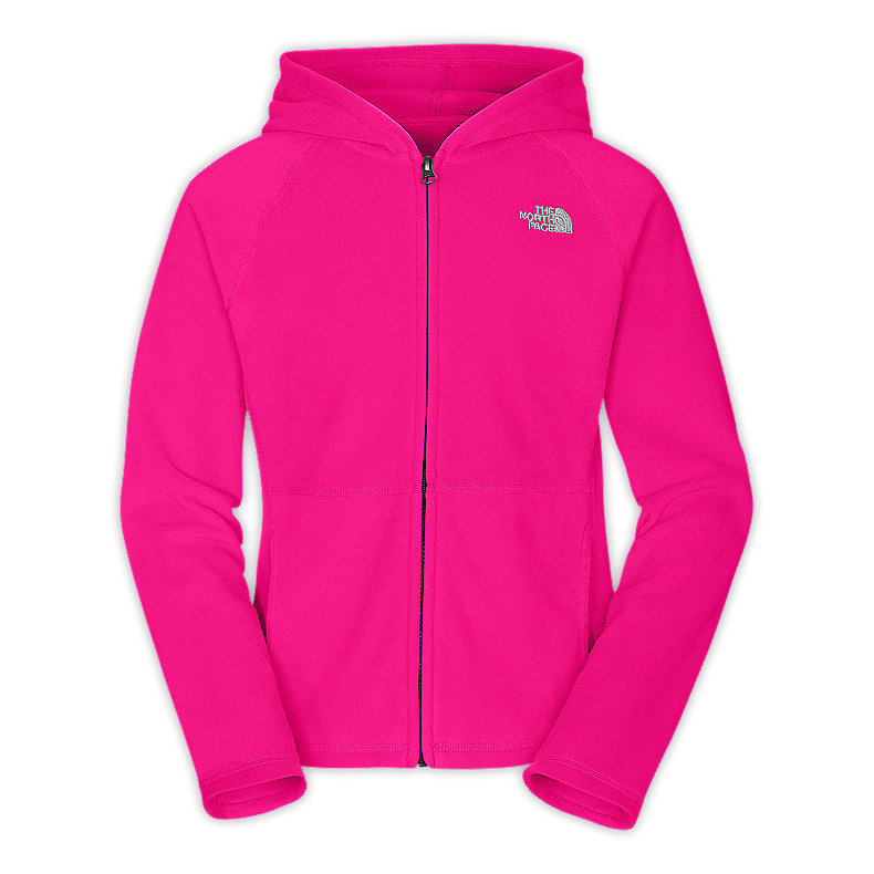 NORTH FACE GIRLS GLACIER FULL ZIP HOODIE RAZZLE PINK