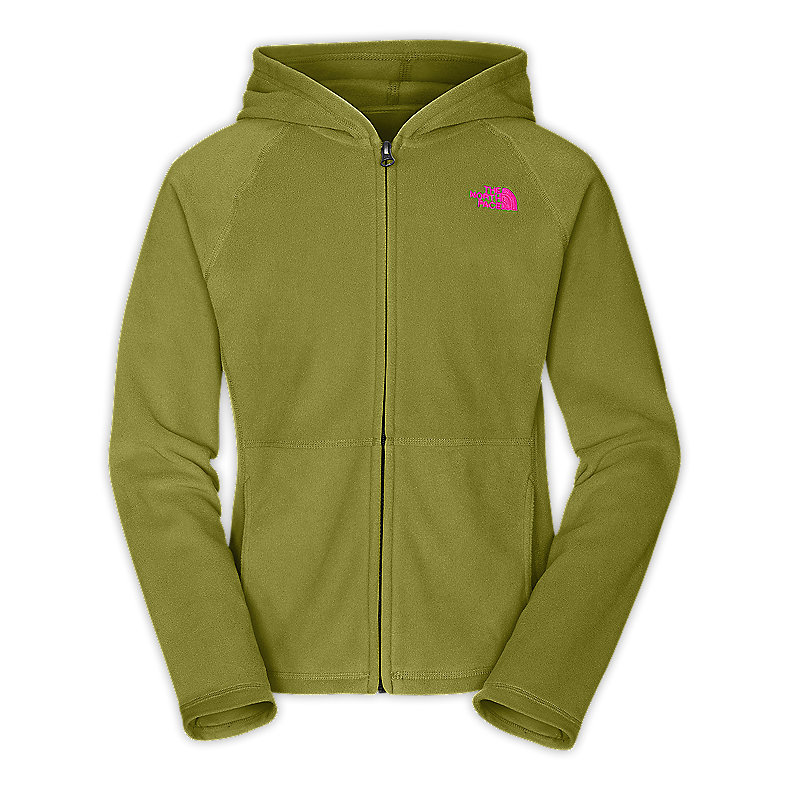 NORTH FACE GIRLS GLACIER FULL ZIP HOODIE GRIP GREEN