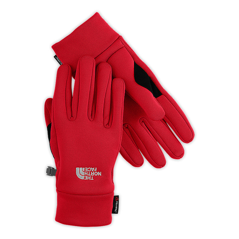 NORTH FACE POWER STRETCH GLOVE TNF RED