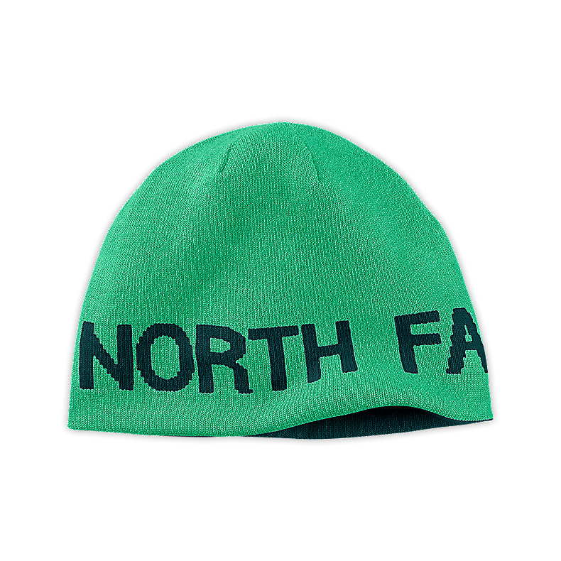 NORTH FACE REVERSIBLE TNF BANNER BEANIE LIZZIE GREEN