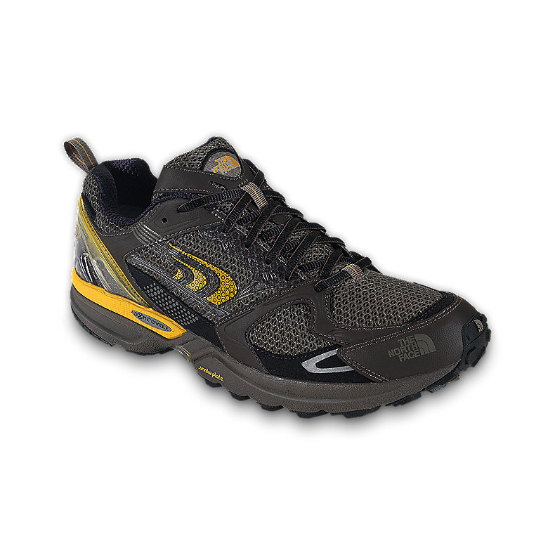 NORTH FACE MEN DOUBLE-TRACK GTX XCR SHOE SHROOM BROWN / YELLOW FENEL