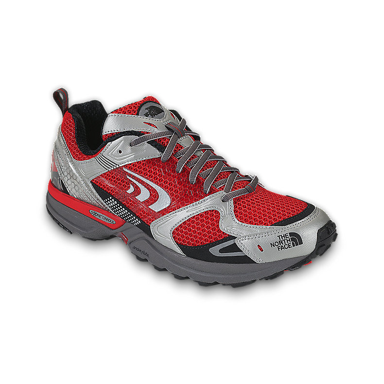 NORTH FACE MEN DOUBLE-TRACK SHOE TNF RED / METALLIC SILVER