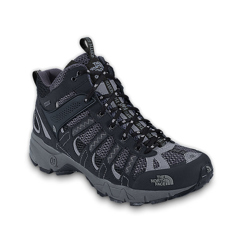 NORTH FACE MEN ULTRA 105 GTX XCR MID SHOE BLACK / GRIFFIN GREY