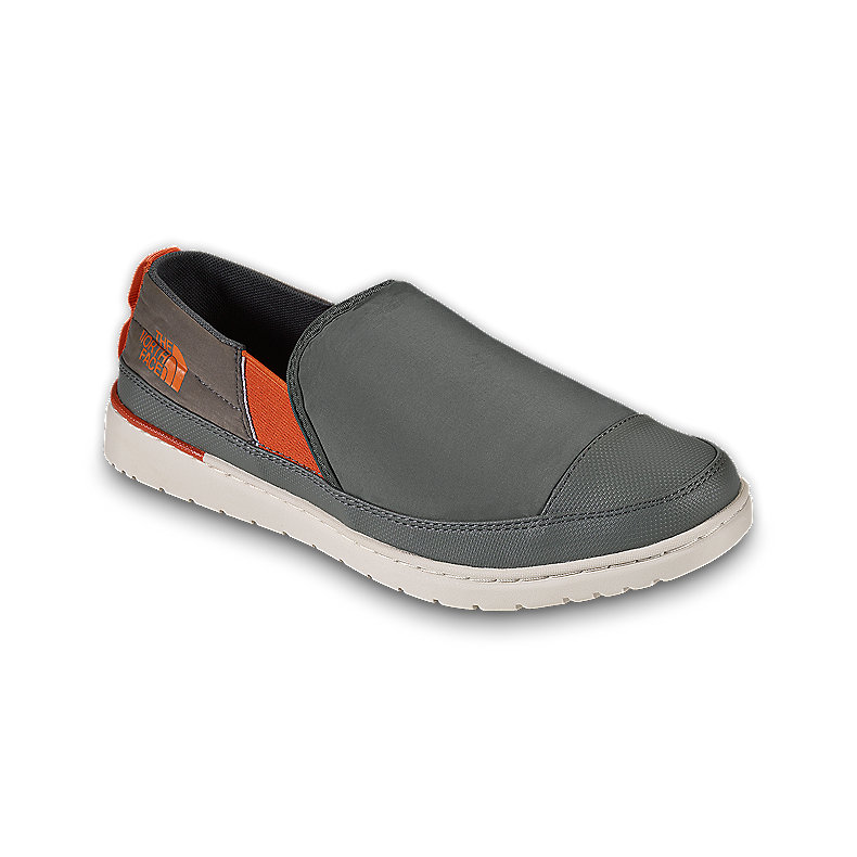 NORTH FACE MEN BASE CAMP SLIP-ON II GRAPHITE GREY / MONARCH ORANGE