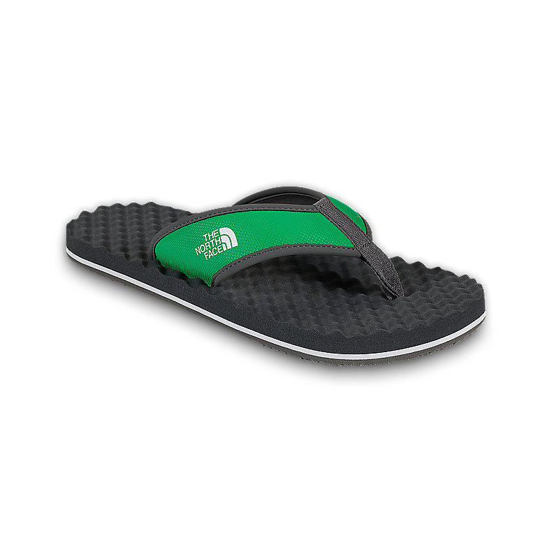 NORTH FACE MEN BASE CAMP FLIP-FLOP TRIUMPH GREEN / GRAPHITE GREY