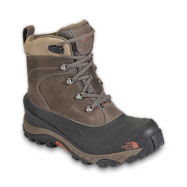 NORTH FACE MEN CHILKAT II BOOT MUDPACK BROWN / BOMBAY ORANGE
