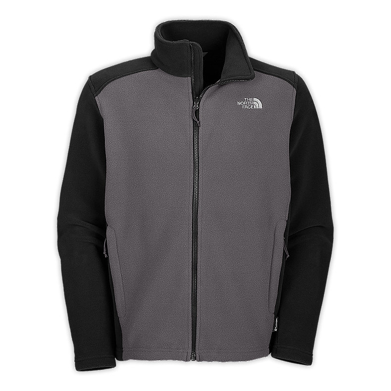NORTH FACE MEN RDT 300 JACKET CHARCOAL GREY HEATHER / TNF BLACK