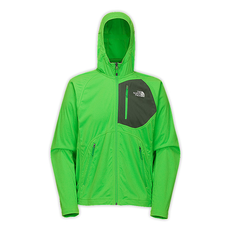 NORTH FACE MEN V10 SOFT SHELL HOODIE TRIUMPH GREEN