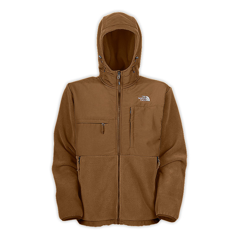 NORTH FACE MEN DENALI HOODIE UTILITY BROWN