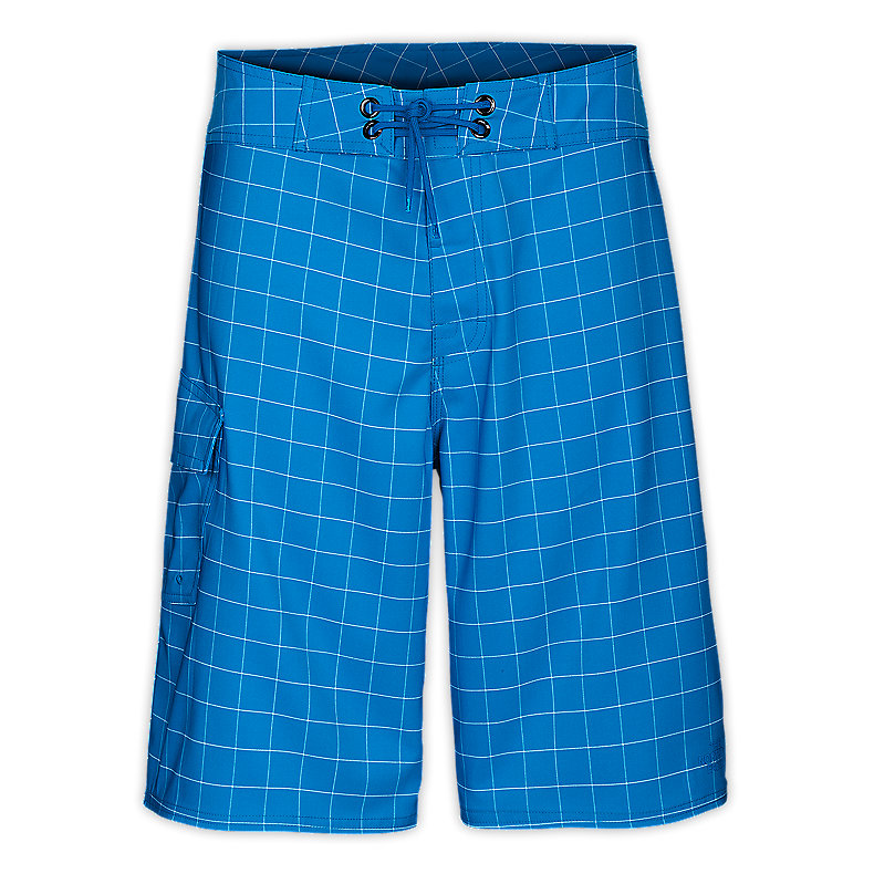 NORTH FACE MEN CLASS V STRETCH PRINTED BOARDSHORTS ATHENS BLUE / TNF WHITE