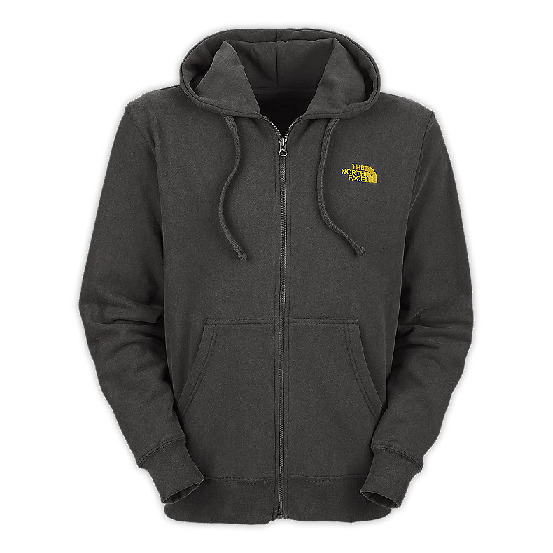 NORTH FACE MEN LOGO FULL ZIP GRAPHITE GREY / LEOPARD YELLOW
