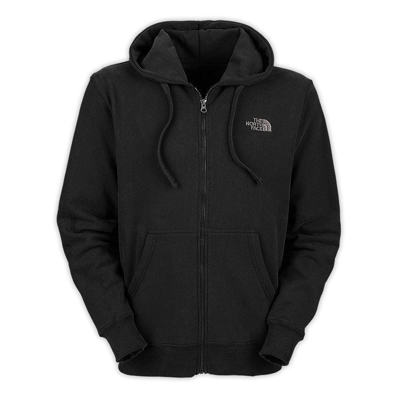 NORTH FACE MEN LOGO FULL ZIP TNF BLACK