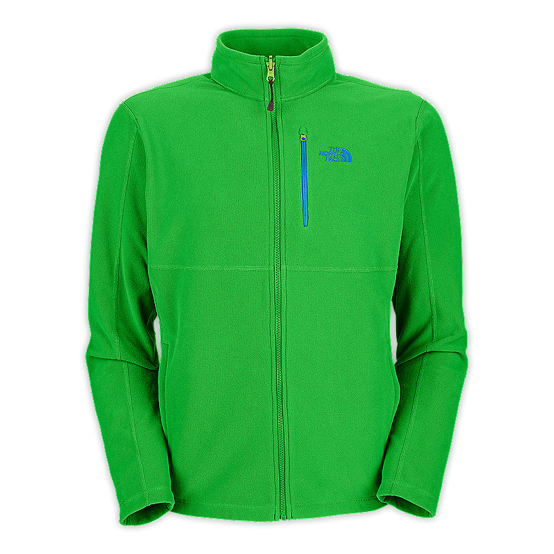 NORTH FACE MEN TKA 100 TEXTURE CAP ROCK FULL ZIP TRIUMPH GREEN