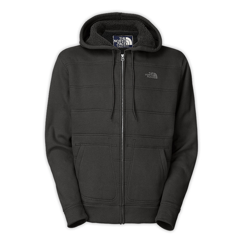 NORTH FACE MEN WANAKA FULL ZIP HOODIE GRAPHITE GREY