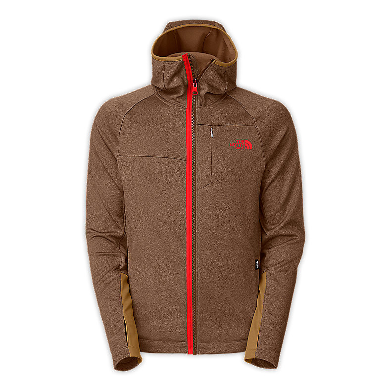 NORTH FACE MEN HEX NINJA HOODIE UTILITY BROWN