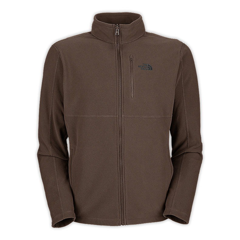 NORTH FACE MEN TKA 100 TEXTURE CAP ROCK FULL ZIP WEIMARANER BROWN