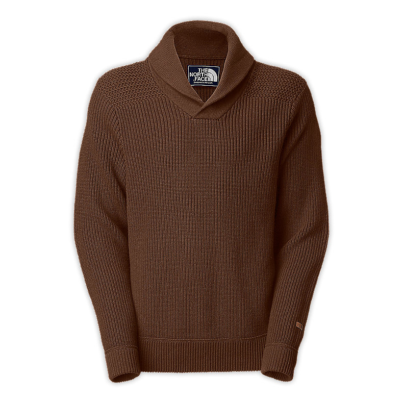 NORTH FACE MEN FAIRBANKS SWEATER BURROW BROWN