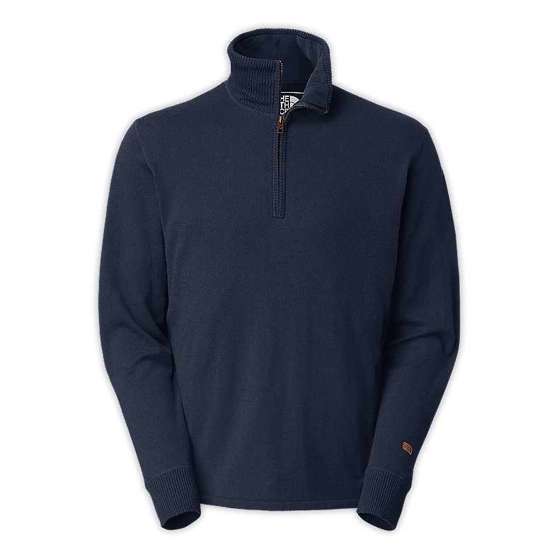 NORTH FACE MEN MT. TAM 1/4 ZIP SWEATER DEEP WATER BLUE