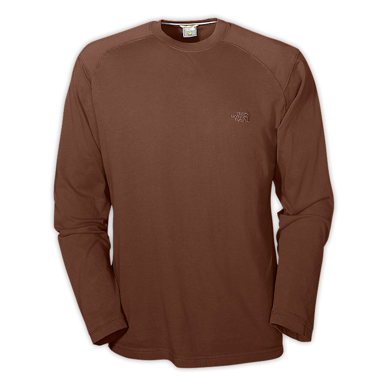 NORTH FACE MEN Long-Sleeve TNF CREW BURROW BROWN
