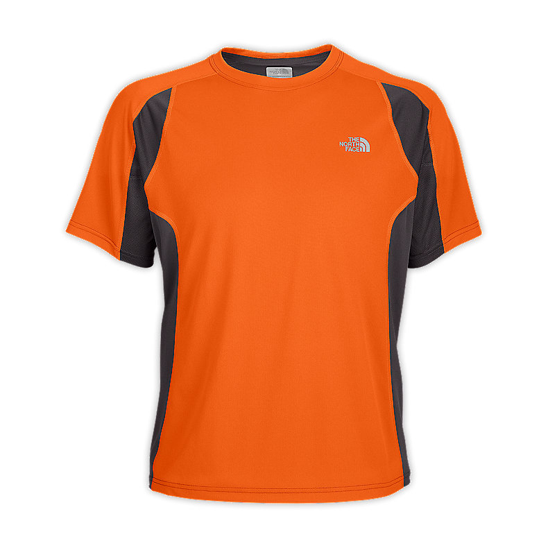 NORTH FACE MEN GTD SHORT-SLEEVE ORIOLE ORANGE / GRAPHITE GREY