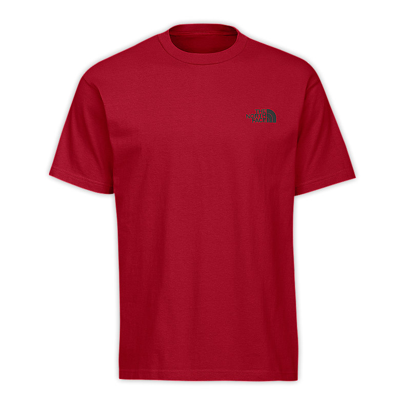 NORTH FACE MEN RED BOX TEE GUSH RED