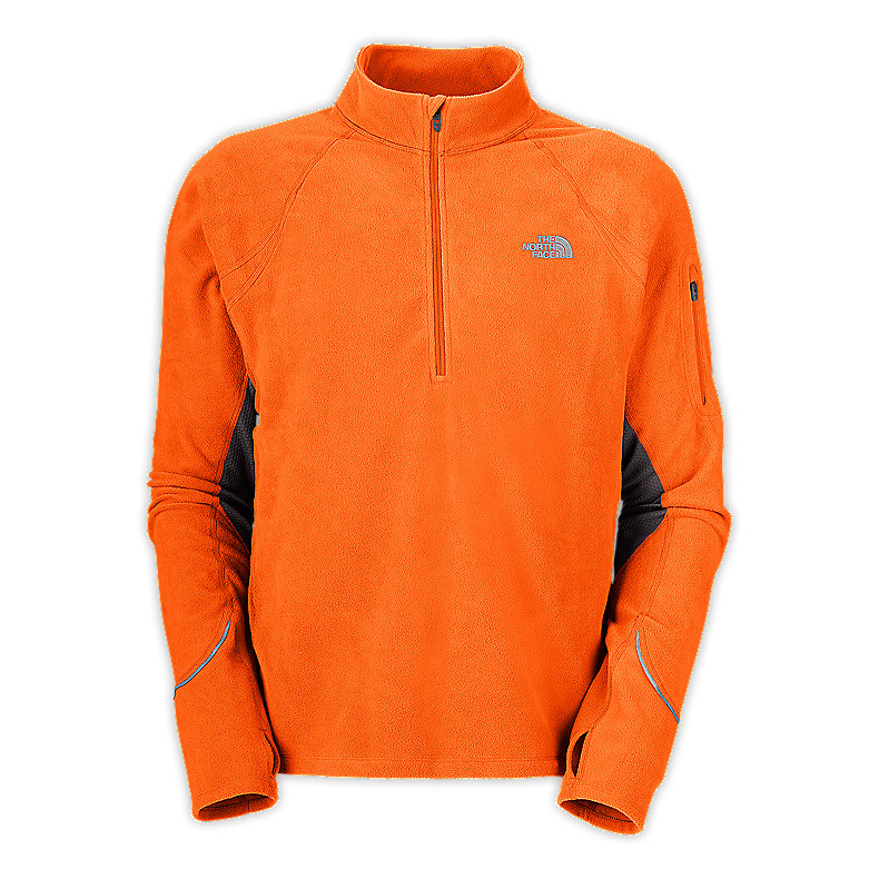 NORTH FACE MEN TKA 80 HYBRID 1/2 ZIP ORIOLE ORANGE / GRAPHITE GREY