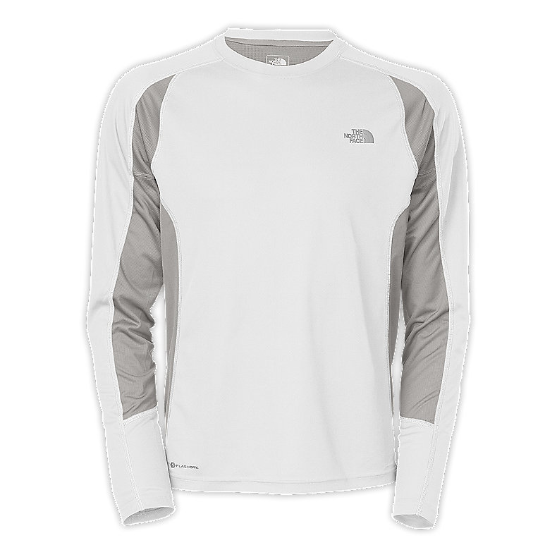 NORTH FACE MEN GTD LONG-SLEEVE TNF WHITE / METALLIC SILVER