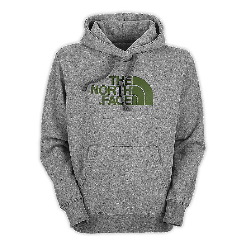 NORTH FACE MEN HALF DOME HOODIE HEATHER GREY / CONIFER GREEN