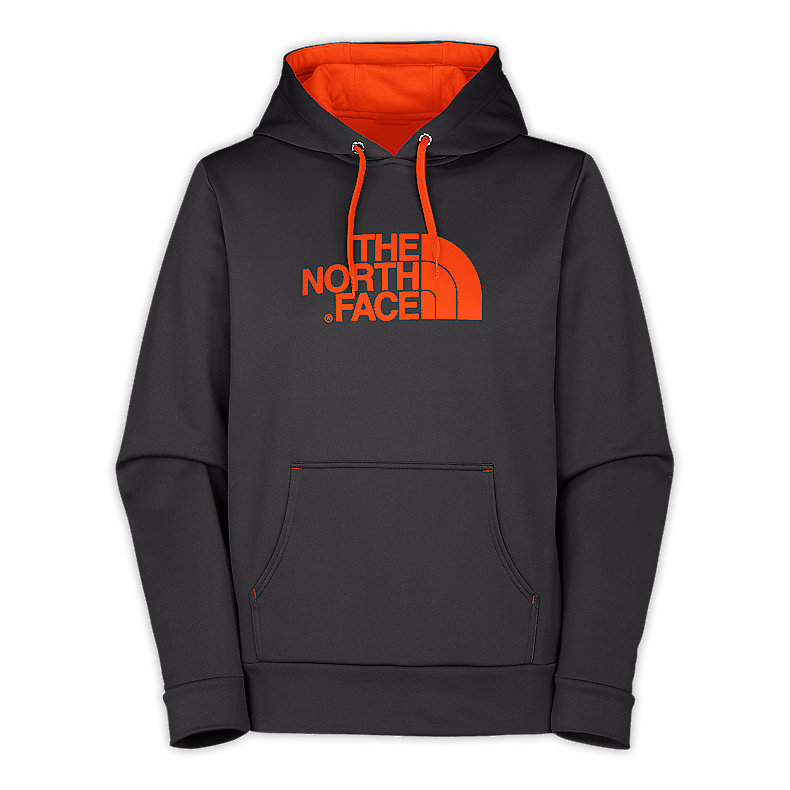 NORTH FACE MEN SURGENT HOODIE GRAPHITE GREY / MONARCH ORANGE