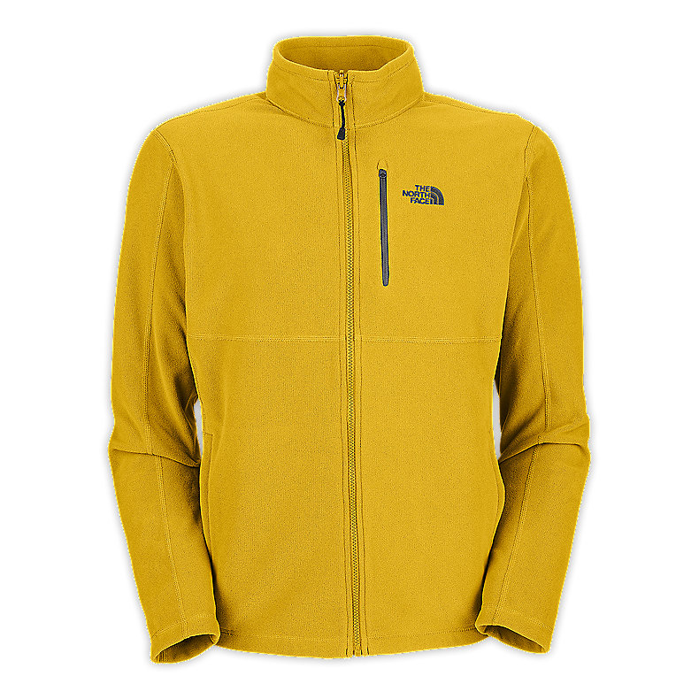 NORTH FACE MEN TKA 100 TEXTURE CAP ROCK FULL ZIP LEOPARD YELLOW