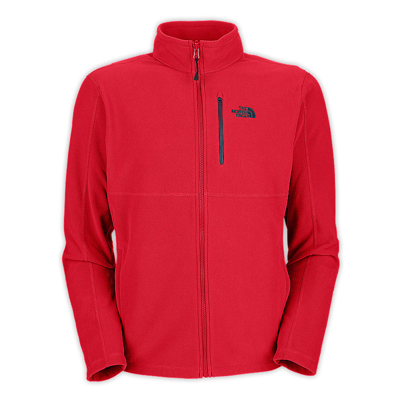 NORTH FACE MEN TKA 100 TEXTURE CAP ROCK FULL ZIP TNF RED