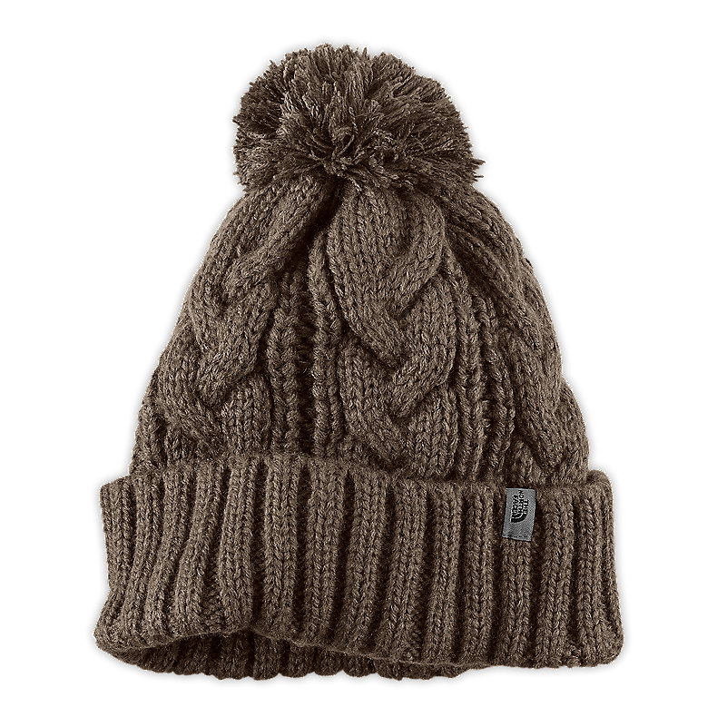 NORTH FACE RIGSBY POM POM BEANIE WEIMARANER BROWN
