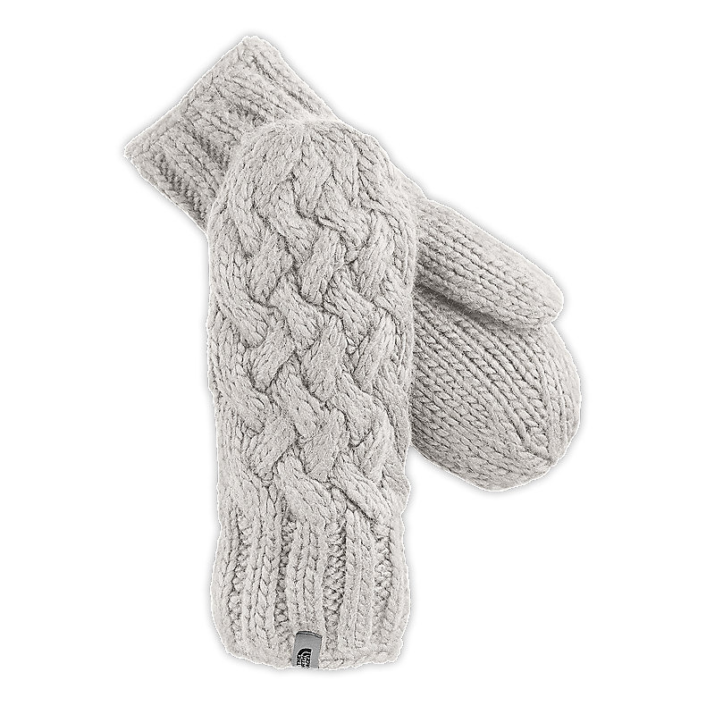 NORTH FACE WOMEN CABLE KNIT MITT VAPOROUS GREY